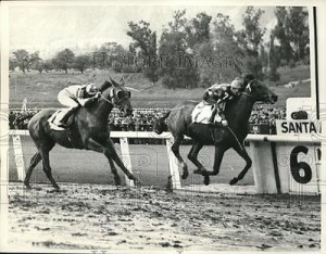 press-photo-nick-wall-on-bay-view-wins-santa-anita-handicap